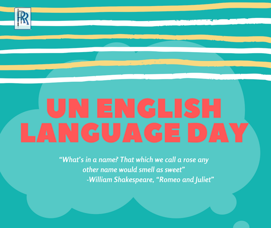 English, a language of every nation- Celebrating UN English Language Day 2019